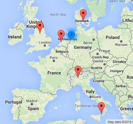 HPEM2GAS partner locations